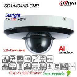 Dahua 4MP 4X Starlight IR PTZ AI Network IP Camera POE IP66 P2P TF SD1A404XB-GNR