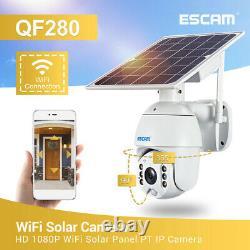 ESCAM QF280 1080P FHD WIFI 4G SIM Card Solar Outdoor Security CCTV IP PTZ Camera