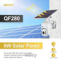 ESCAM QF280 1080P Wifi Solar IP Camera Outdoor PIR Alarm Monitor Smart CCTV