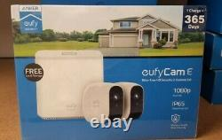 Eufy Cam E, 1080P Wire- Free Security 2 -Camera System, 1 change =365days