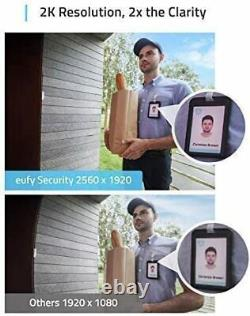Eufy WI-FI Video Doorbell 2K HDR Smart Security Camera Intercom + Wireless Chime