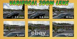 GW 16 Channel 4K DVR (16) 8MP CCTV Varifocal Zoom 4K Dome Security Camera System