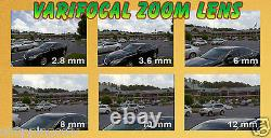 GW 2048P 6MP IP PoE Bullet Security Camera Weatherproof Varifocal Lens 165 Ft