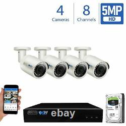 GW 8 Channel H. 265 4K NVR 4 X 5MP PoE IP Camera Surveillance Security System