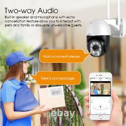 HD 1080P IP Camera Outdoor WiFi PTZ CCTV Security Wireless Smart Home IR Cam