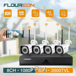 HD 1080P Wireless WIFI NVR Outdoor CCTV Home IP Camera Night Vision Security Kit