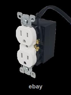 Hardwired Functional Outlet Receptacle Plug with Wifi 4K UHD Hidden Nanny Camera
