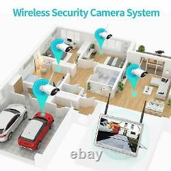HeimVision HM243 8CH NVR 1080P Wireless Security Camera System 12 LCD Monitor