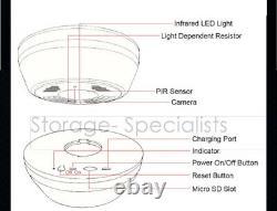 High Quality Smoke Detector Security Camera PIR Long Battery Life Wireless WIFI