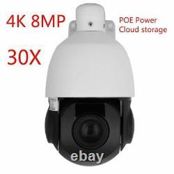 Hikvision Compatible 4K 8MP POE IP Speed dome PTZ Camera 20x zoom Onvif IR 100m