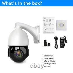 Hikvision Compatible 4K 8MP POE IP Speed dome PTZ Camera 30x zoom Onvif IR 100m@