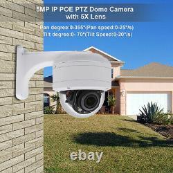 Hikvision Compatible Anpviz IP PTZ POE Camera 5MP 5X Zoom H. 265 IP66 Onvif