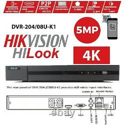 Hikvision Hilook CCTV HD 1080P 5MP Night Vision Outdoor Home Security System Kit