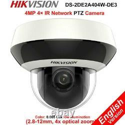 Hikvision IP PTZ 4MP 4XZoom POE DS-2DE2A404IW-DE3 WDR Camera outdoor
