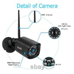 Home CCTV 1080P HD Outdoor Camera Security System Wireless WiFi 4CH NVR Night IR