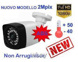 KIT PROFESSIONALE DVR 4 Canali IBRIDO + 4 TELECAMERE AHD 3000TVL + HD + 4 Alim