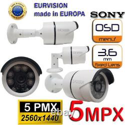 KIT SORVEGLIANZA DVR 4 Canali + HD + 4 Sony 5MPX Notturno 40 metri + HD