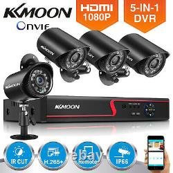KKMOON 8CH H. 265+ 5MP Lite DVR 1080P Outdoor CCTV Home Security Camera System