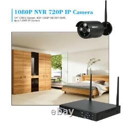 KKmoon 4CH Wireless 1080P NVR 720P Outdoor Home WIFI Camera CCTV Security System