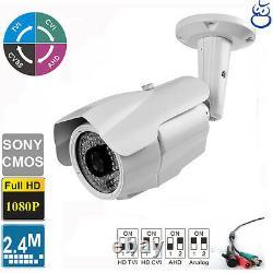 License Plate TVI Camera 2.4MP 1080P Long Range 5-50mm Lens 84 IR LEDs Sony CMOS