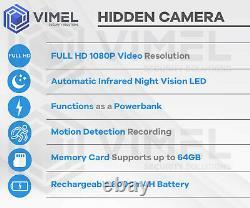 Mini Portable Power Bank Spy Security Camera Hidden IR Night Vision Recorder