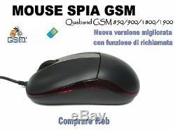 Mouse Micro Spia Gsm Nascosta Occultata Microspia Cimice Spy Cam Ambientale