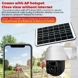 New Solar Powered WiFi Security Camera Wireless Outdoor PTZ Camera Waterproof