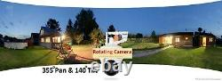 Outdoor Solar 4G Multiple HD Security Cameras, CCTV Farm, Home, Construction Site