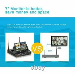 Outdoor Wireless Security System IP Camera with 7 Monitor Home Surveillance Kit