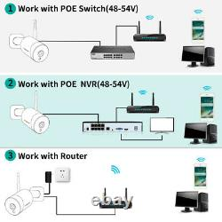 PTZ 5MP POE Audio Security IP Camera Home CCTV Outdoor 4x Zoom IR Night Vision