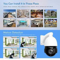 PTZ IP Camera 5MP Super HD Pan/Tilt 30x Zoom Speed Dome Camera Onvif IR Outdoor