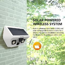 REXING Wireless Solar Powered Outdoor Security Camera System With Ultra Bright LED