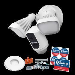Refurbished Wi-Fi Floodlight Security Camera White