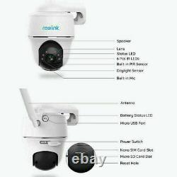 Reolink 1080p 4G Mobile Rechargeable Security Camera Pan Tilt Go PT +Solar Panel