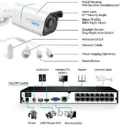 Reolink 16CH 4K Security System NVR Kit Person/Vehicle Detection RLK16-810B8-A