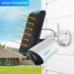 Reolink 2 Pack 1080P Wireless Outdoor Rechargeable Battery Camera + Solar Panel