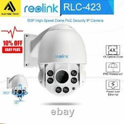 Reolink 5MP PTZ Security Camera POE IP Pan&Tilt 4x Optical Zoom Outdoor RLC-423