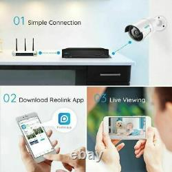 Reolink 8CH 4MP PoE Camera Security Home System 2TB HDD With Audio RLK8-410B4