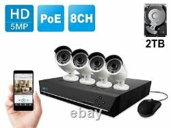Reolink 8CH 5MP Surveillance System PoE NVR Security IP Camera Kit RLK8-410B4-5