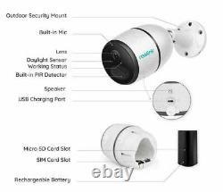 Reolink Go 4G LTE Network Mobile Rechargeable Security Camera + Solar Panel