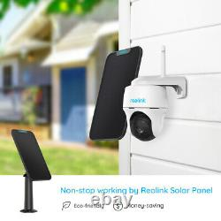 Reolink Rechargeable Outdoor Wifi Security Camera Pan Tilt Argus PT&Solar Panel