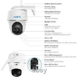 Reolink Security Camera 1080P Battery Pan Tilt Outdoor PIR ArgusPT + Solar Panel
