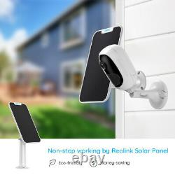 Reolink Wireless Security Camera Rechargeable 2-Way-Audio Argus 2 + Solar Panel