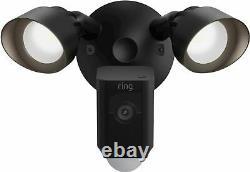 Ring Floodlight Cam Plus Outdoor Wired 1080p Surveillance Camera Black