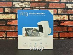 Ring Spotlight Cam Battery, HD Security Camera with Built-in Two-Way Talk-White