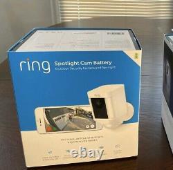 Ring Spotlight Cam Battery-Powered Security Camera 8X81X7-WEN0