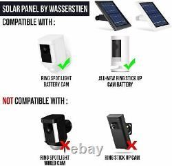 Ring Spotlight Cam Battery with Solar Panel Bundle Deal Camera (2 Pack, White)