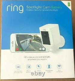 Ring -Spotlight Cam Wire-free Battery HD Security Camera, Two-Way Talk NEW SEALED