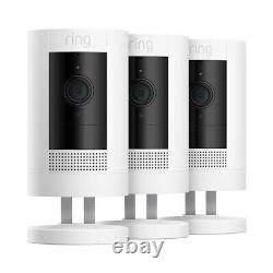 Ring Stick Up Cam 3 Pack Battery Powered Indoor/Outdoor Home Security Camera