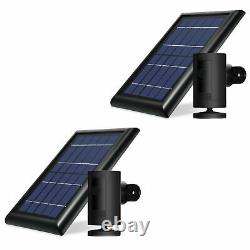 Ring Stick Up Cam Battery with Solar Panel Bundle Deal Camera (2 Pack, Black)